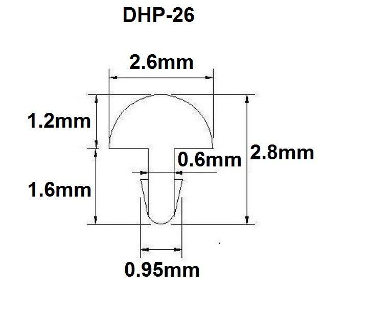 Traste DHP-26 médio/jumbo para violão/guitarra/baixo - 1,2mm (altura) x 2,6mm (largura) - Rolo com 10 metros  - Luthieria Brasil