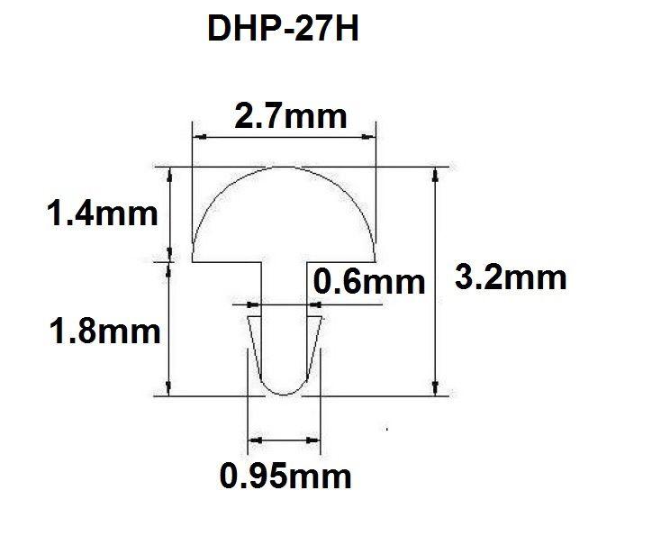 Traste DHP-27H jumbo para violão/guitarra/baixo - 1,4mm (altura) x 2,7mm (largura) - Rolo com 3 metros  - Luthieria Brasil