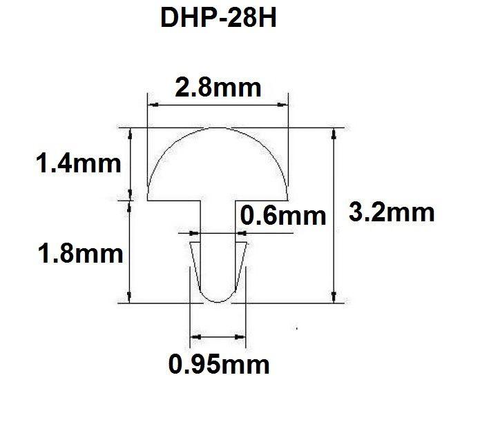 Traste DHP-28H extra jumbo para violão/guitarra/baixo - 1,4mm (altura) x 2,8mm (largura) - Rolo com 3 metros  - Luthieria Brasil