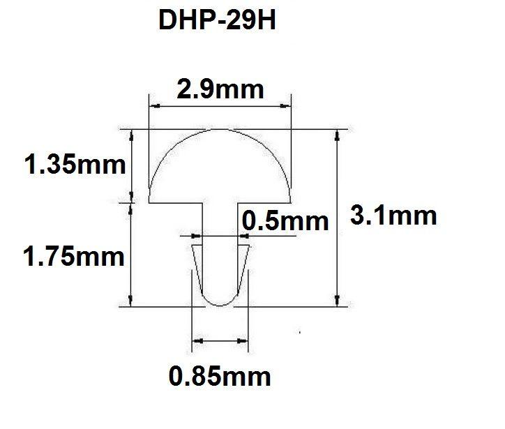 Traste DHP-29H extra jumbo para violão/guitarra/baixo - 1,35mm (altura) x 2,9mm (largura) - Rolo com 3 metros  - Luthieria Brasil