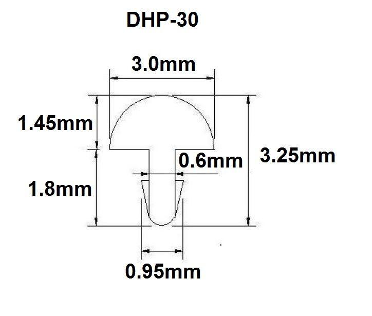 Traste DHP-30 extra jumbo para guitarra/baixo - 1,45mm (altura) x 3,0mm (largura) - Rolo com 3 metros  - Luthieria Brasil