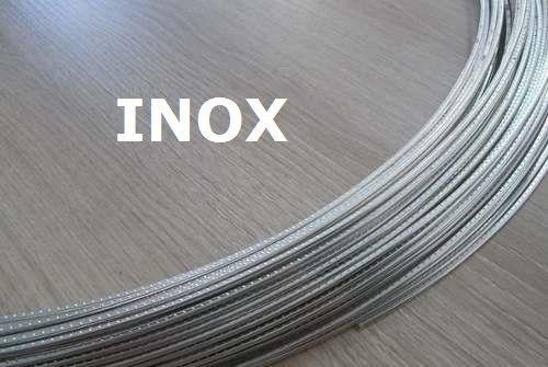 Traste Inox DHP-20S médio para cavaco/violão/guitarra - 1,0mm (altura) x 2,0mm (largura) - Rolo com 3 metros  - Luthieria Brasil