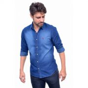 Camisa  Jeans Azul Poa Reserva