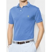 Camisa Polo Basic Ralph Lauren Azul Claro
