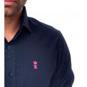 Camisa Social Poá  Preto Sergio K