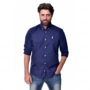 Camisa Social RL Marinho / Branco - Regular Fit