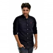 CAMISA SOCIAL RL PRETA RED - Regular Fit