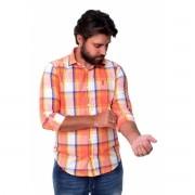 Camisa Social SK Xadrez Button