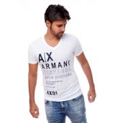 Camiseta Armani Exchange  Logo Detail Branca