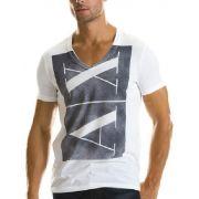 Camiseta Armani Exchange logo vintage Branca