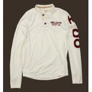 Camiseta Henley Hollister Surf OffWhite