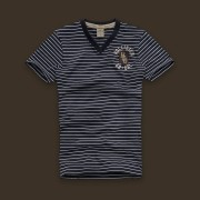 Camiseta Hollister Stripe Navy