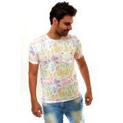 Camiseta Reserva Bolso Flowers Branca