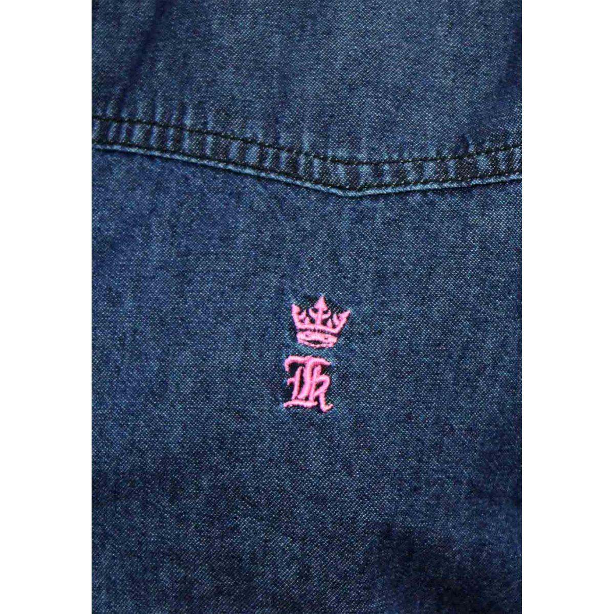 Camisa Jeans Azul Basic LR SK   - Ca Brasileira