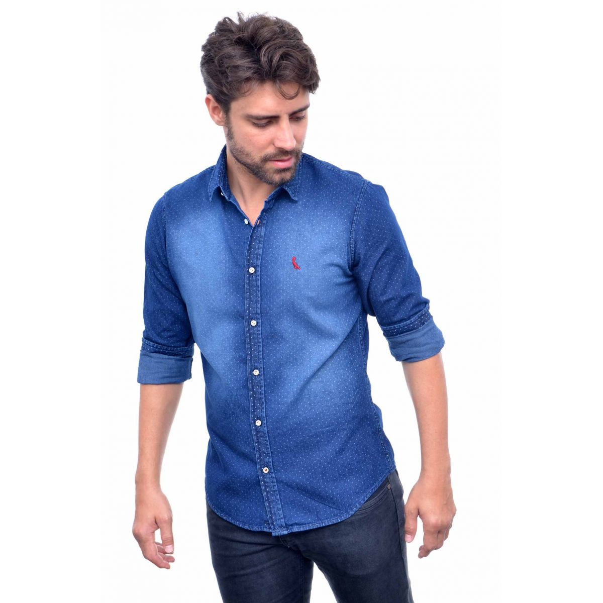 2162cf8f8f Camisa Jeans Azul Poa RV Reserva Camisa Social Outlet Califórnia ...