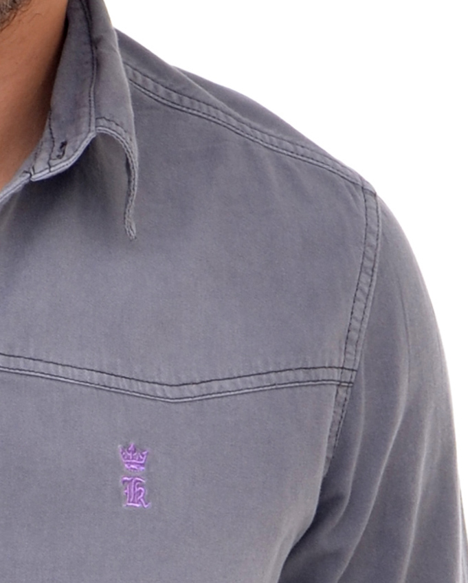 5455d21ed1 Camisa Jeans Cinza R Sergio K Camisa Social Outlet Califórnia ...