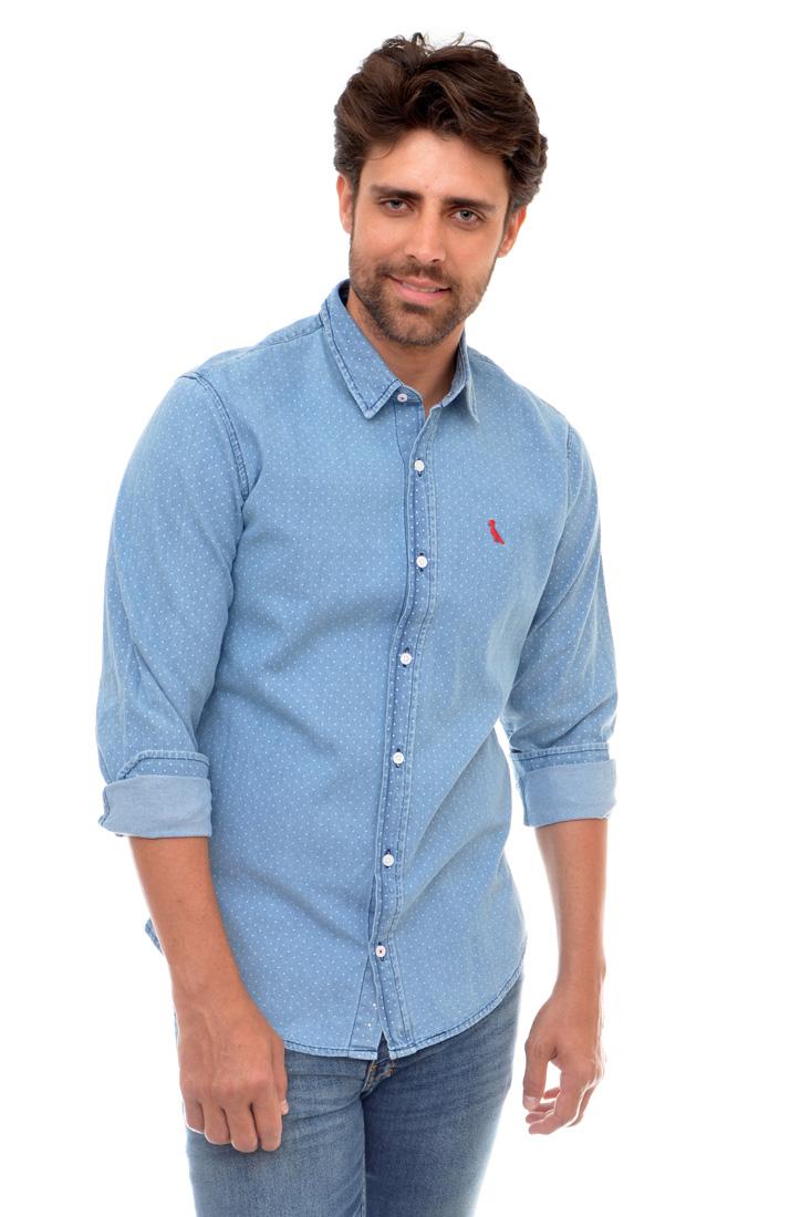 Camisa  Jeans Poa Reserva  - Ca Brasileira