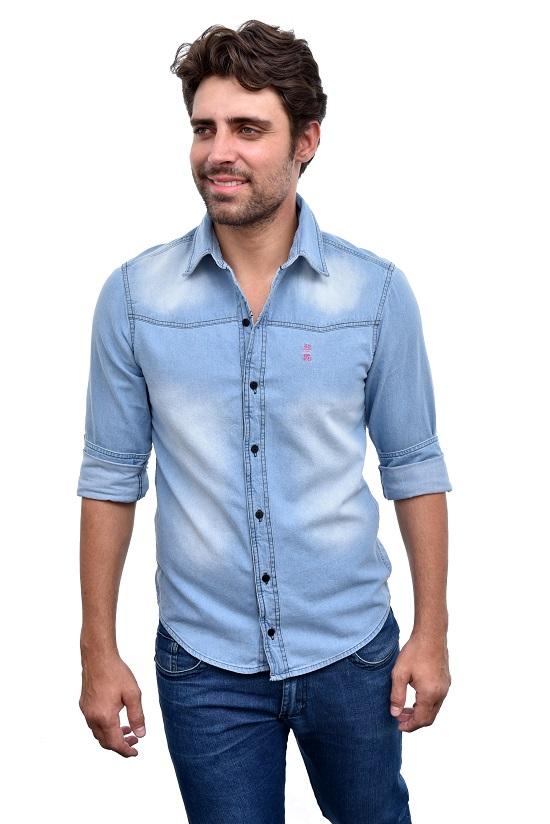 Camisa Jeans Clara   - Ca Brasileira