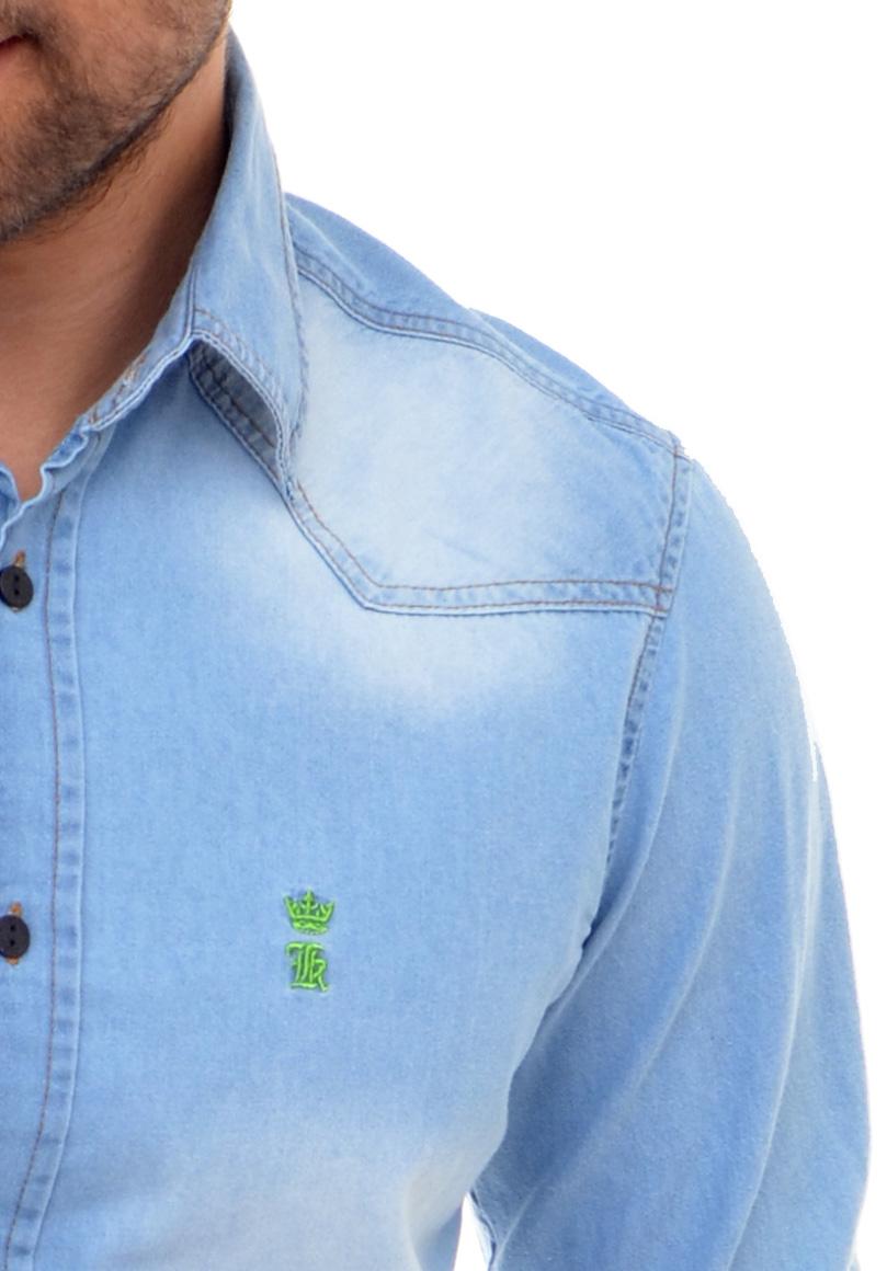 Camisa Jeans Delave  B/V Sergio K  - Ca Brasileira