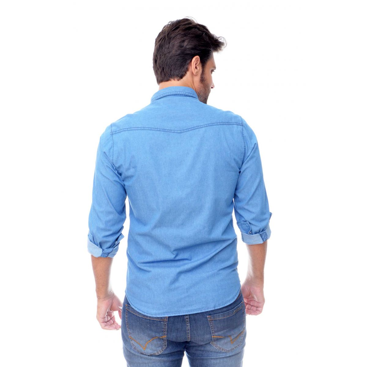 Camisa Jeans Delave   - Ca Brasileira