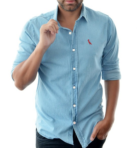 f01a3ceb31 Camisa Jeans Reserva Azul Médio Reserva Camisa Social Outlet ...