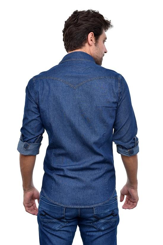Camisa Jeans Azul Sergio K  - Ca Brasileira