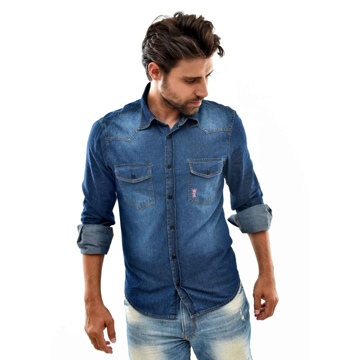 Camisa Jeans SK Bolsos Used