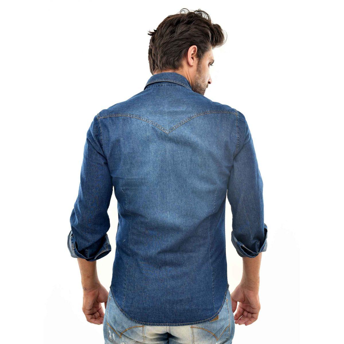 Camisa Jeans Sergio K Bolsos Used  - Ca Brasileira