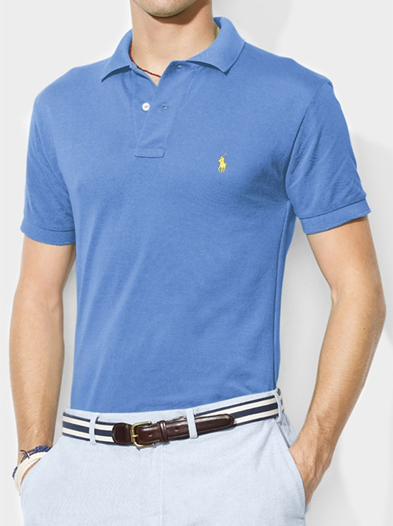 Camisa Polo Basic Ralph Lauren Azul Claro  - Ca Brasileira