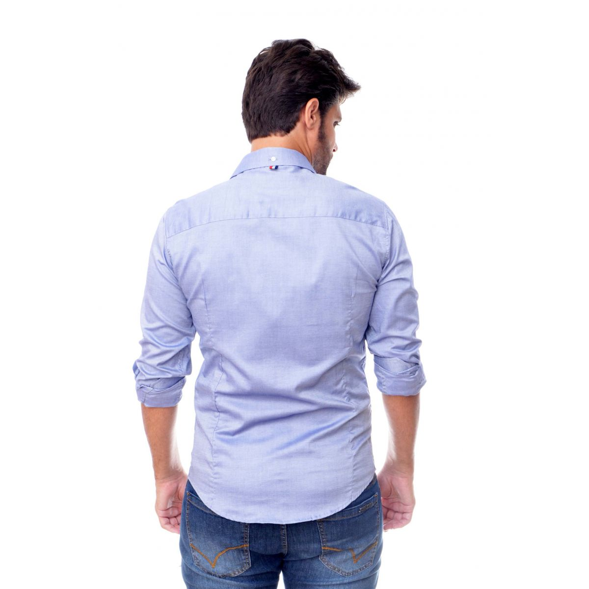 Camisa Social Oxford Azul Sergio K  - Ca Brasileira