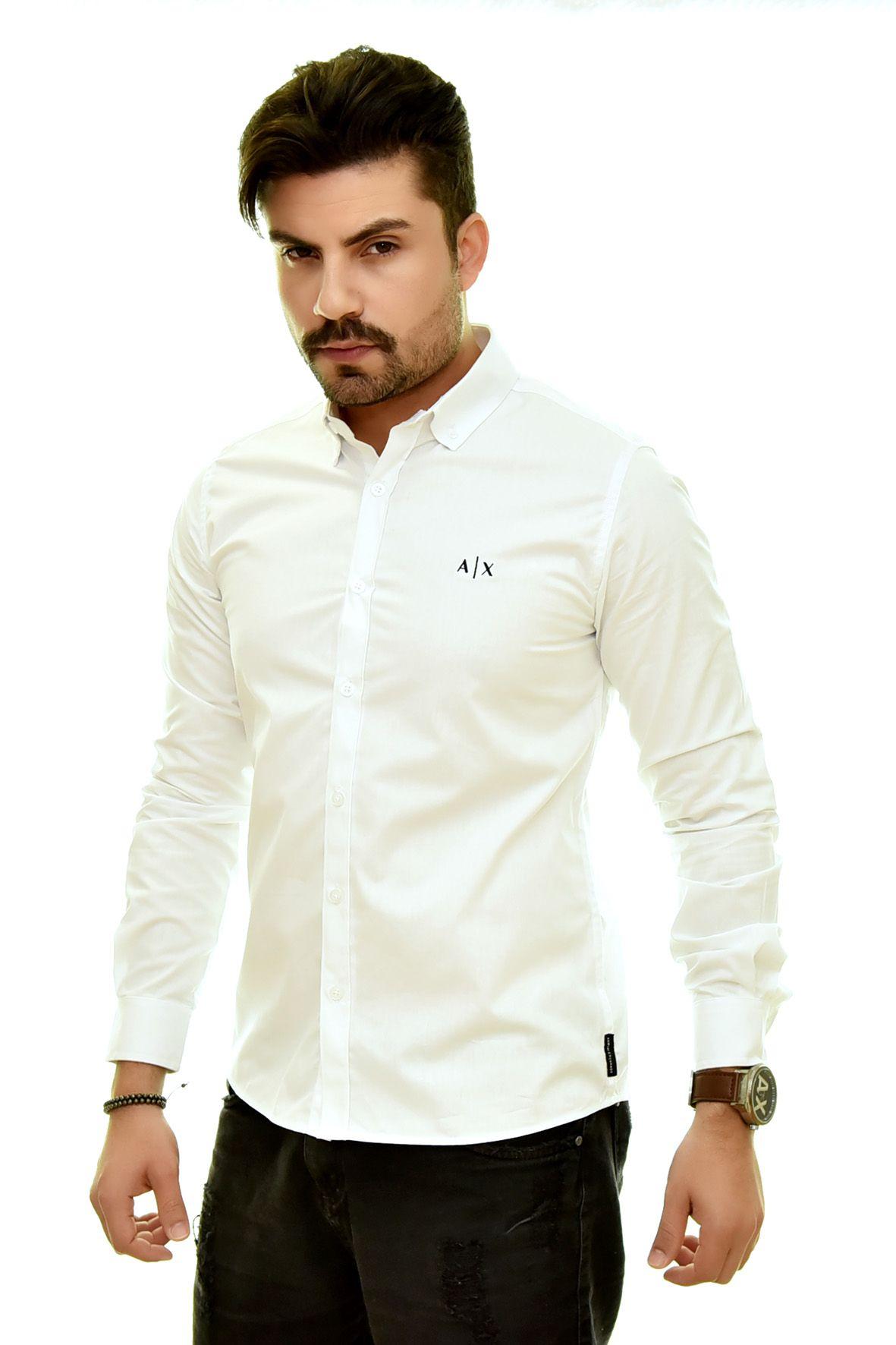 Camisa Social Print Branca  - Ca Brasileira