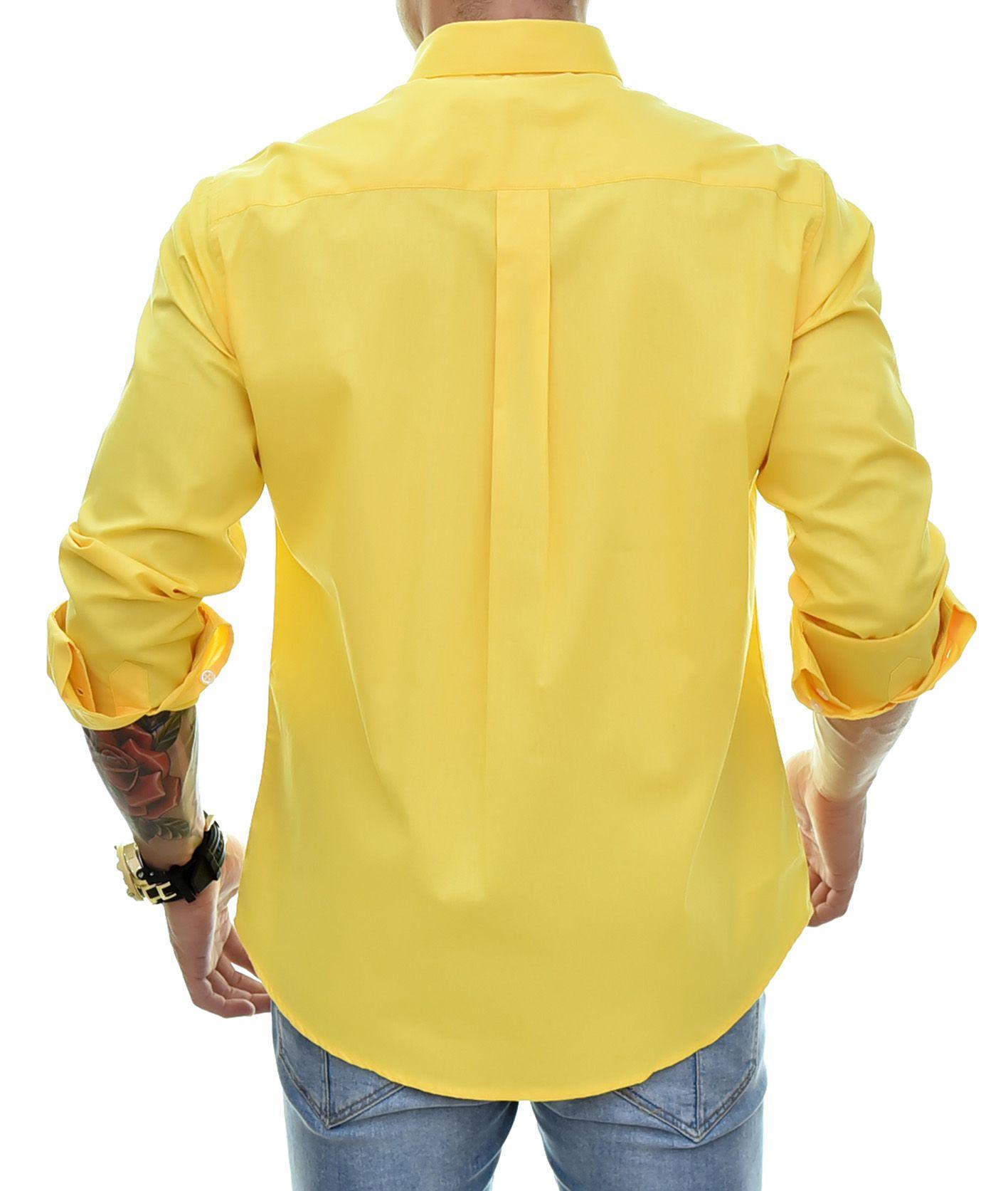Camisa Social RL Amarela Colored - Custom Fit  - Ca Brasileira