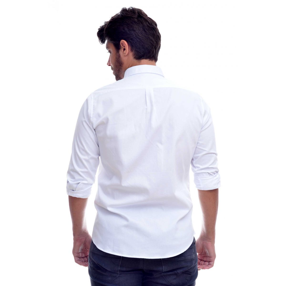 Camisa Social RL  Oxford Branco Colored - Custom Fit  - Ca Brasileira