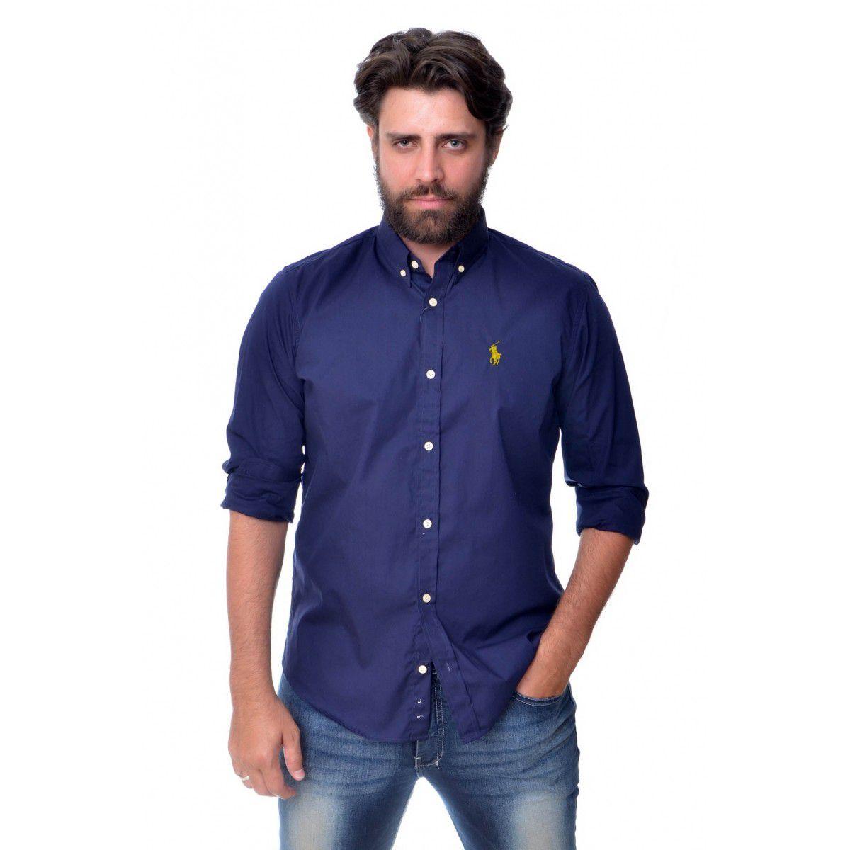 Camisa Social RL Marinho / Amar - Custom Fit