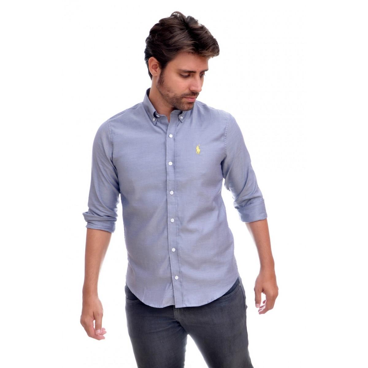 Camisa Social RL Oxford Preto - Regular Fit  - Ca Brasileira