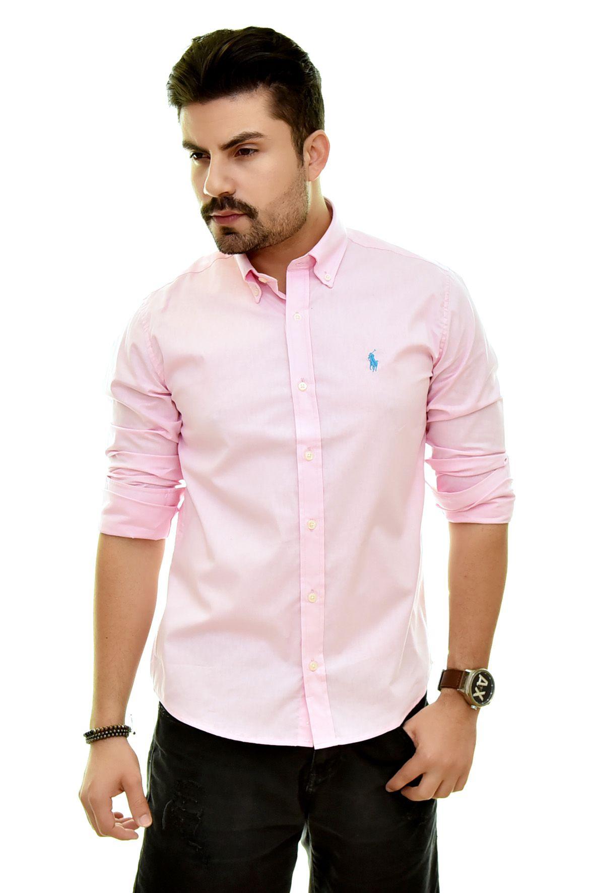 Camisa Social RL Rosa Bebe - Trq