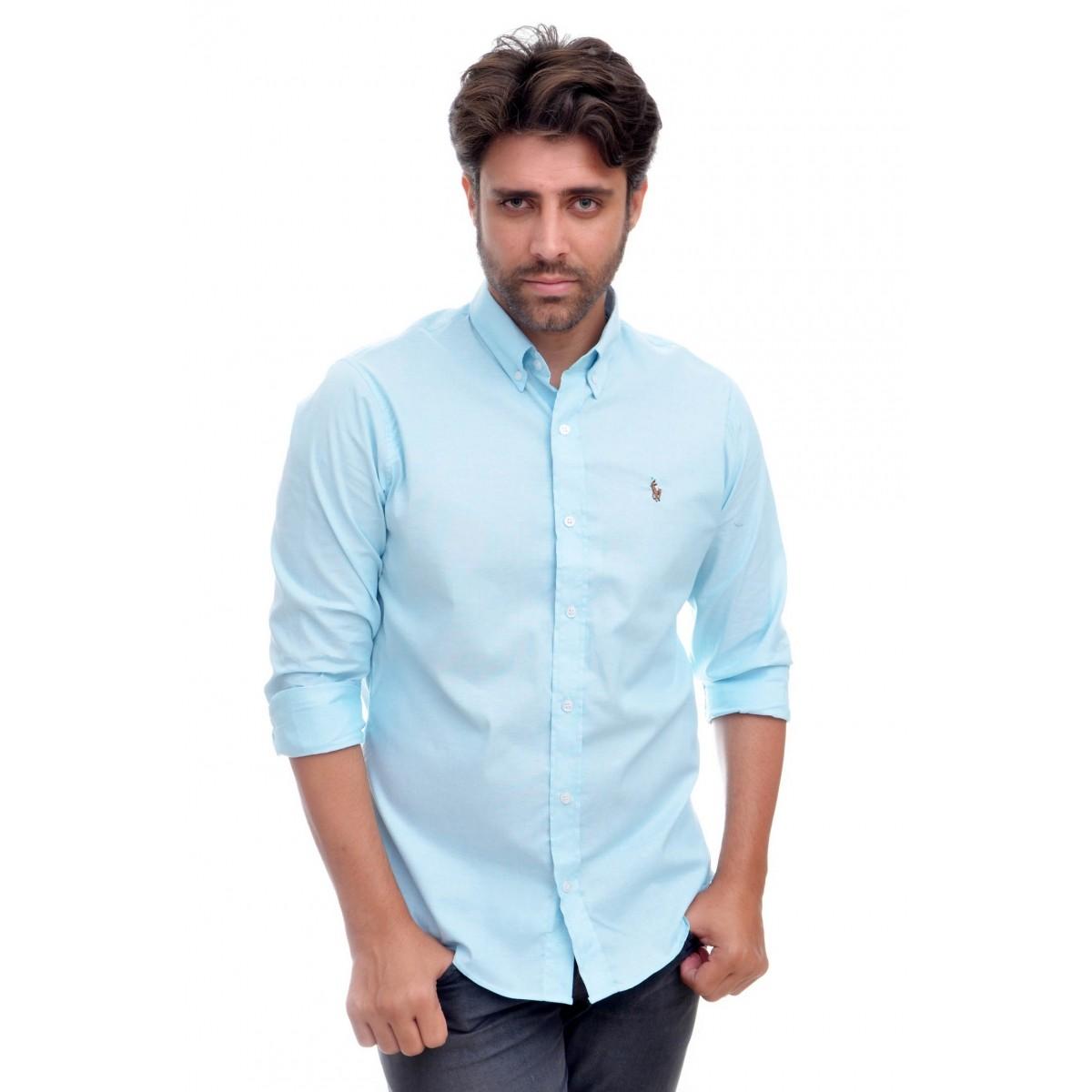 Camisa Social RL Verde Agua  - Ca Brasileira