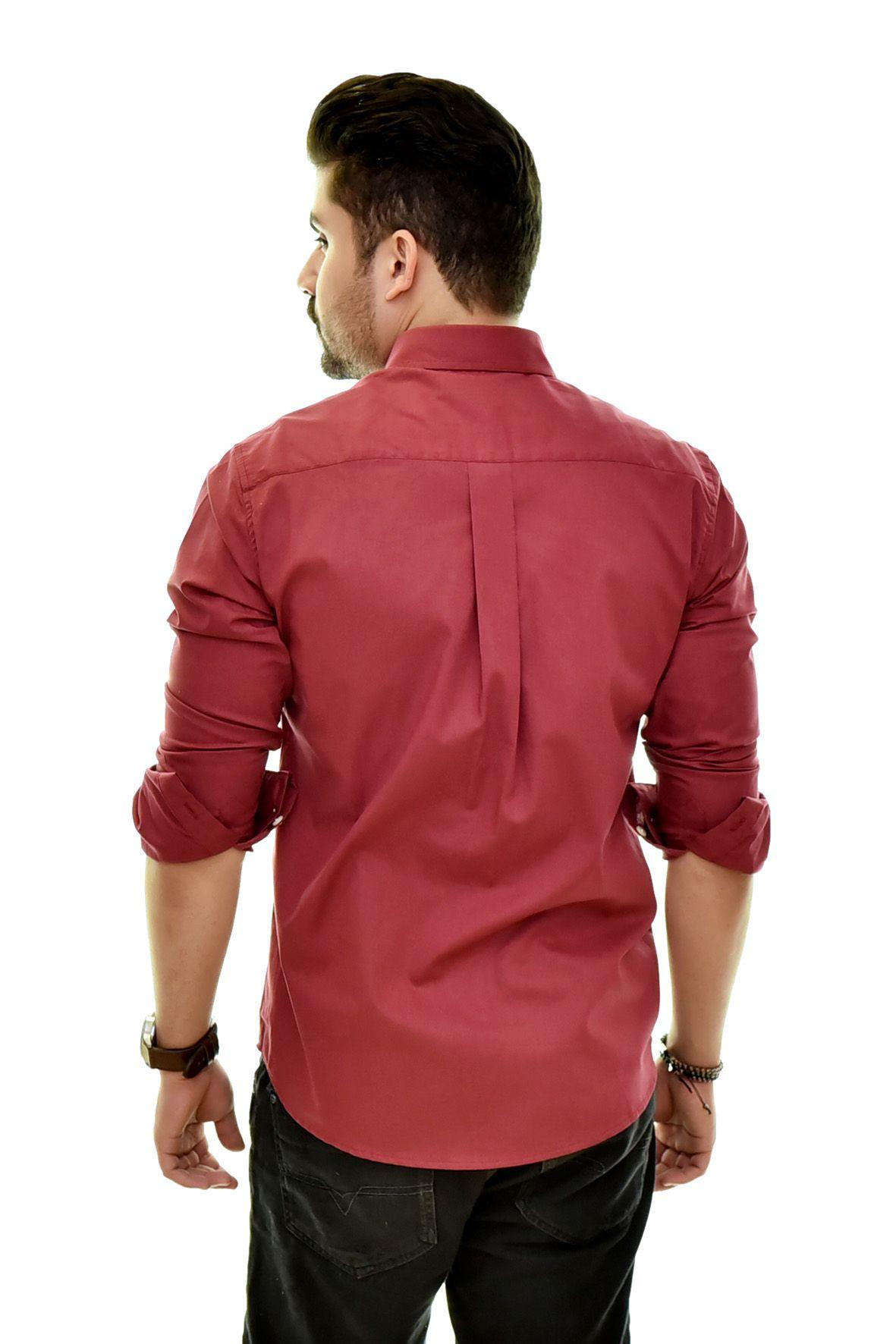 Camisa Social RL Vinho Colored - Custom Fit  - Ca Brasileira