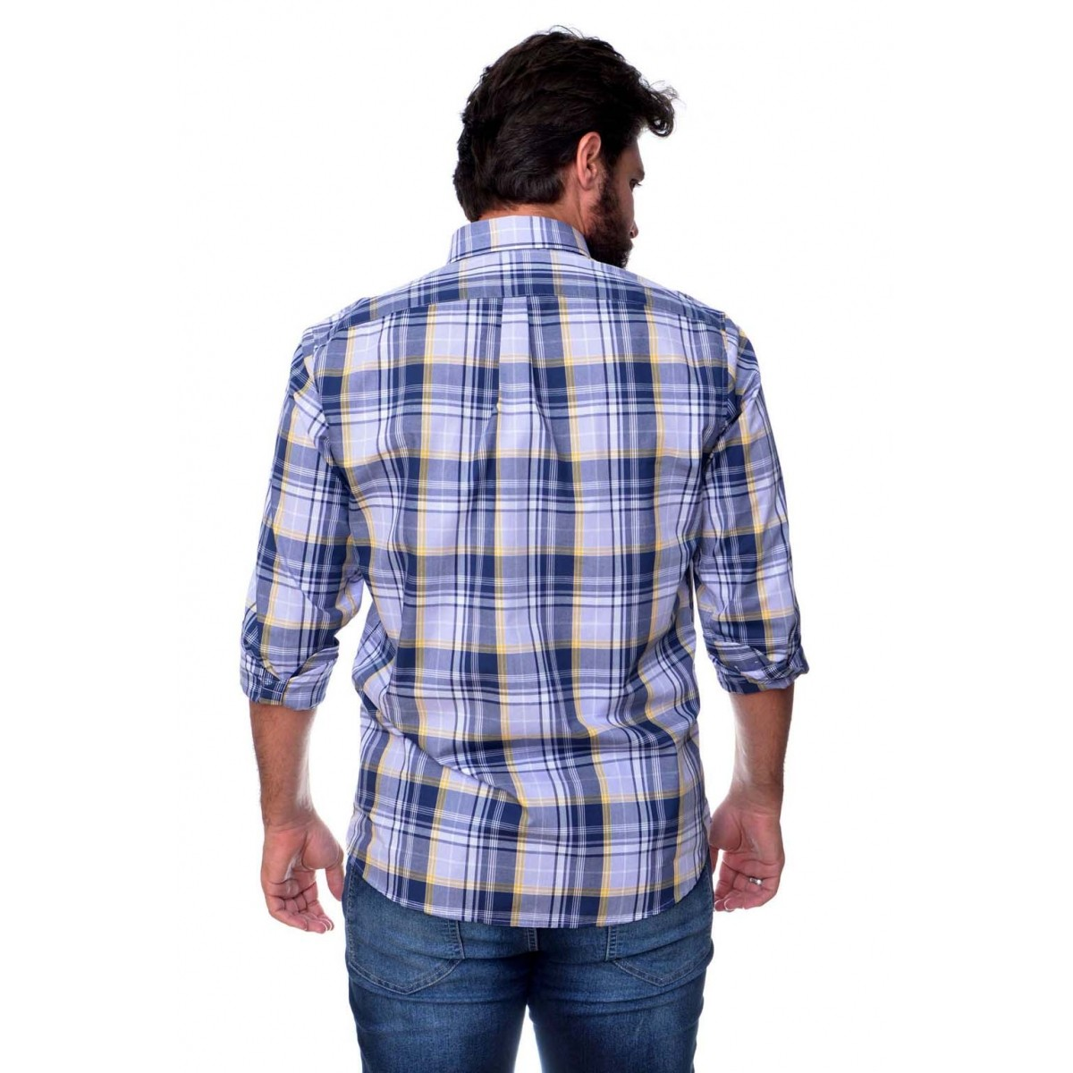 Camisa Social RL Xadrez AZ - Regular Fit  - Ca Brasileira