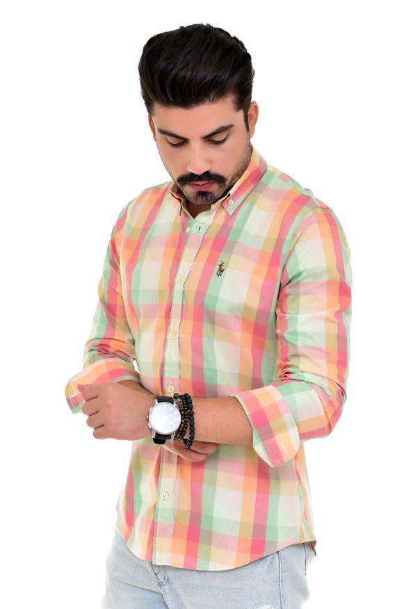 Camisa Social RL Xadrez Colored - Custom Fit  - Ca Brasileira