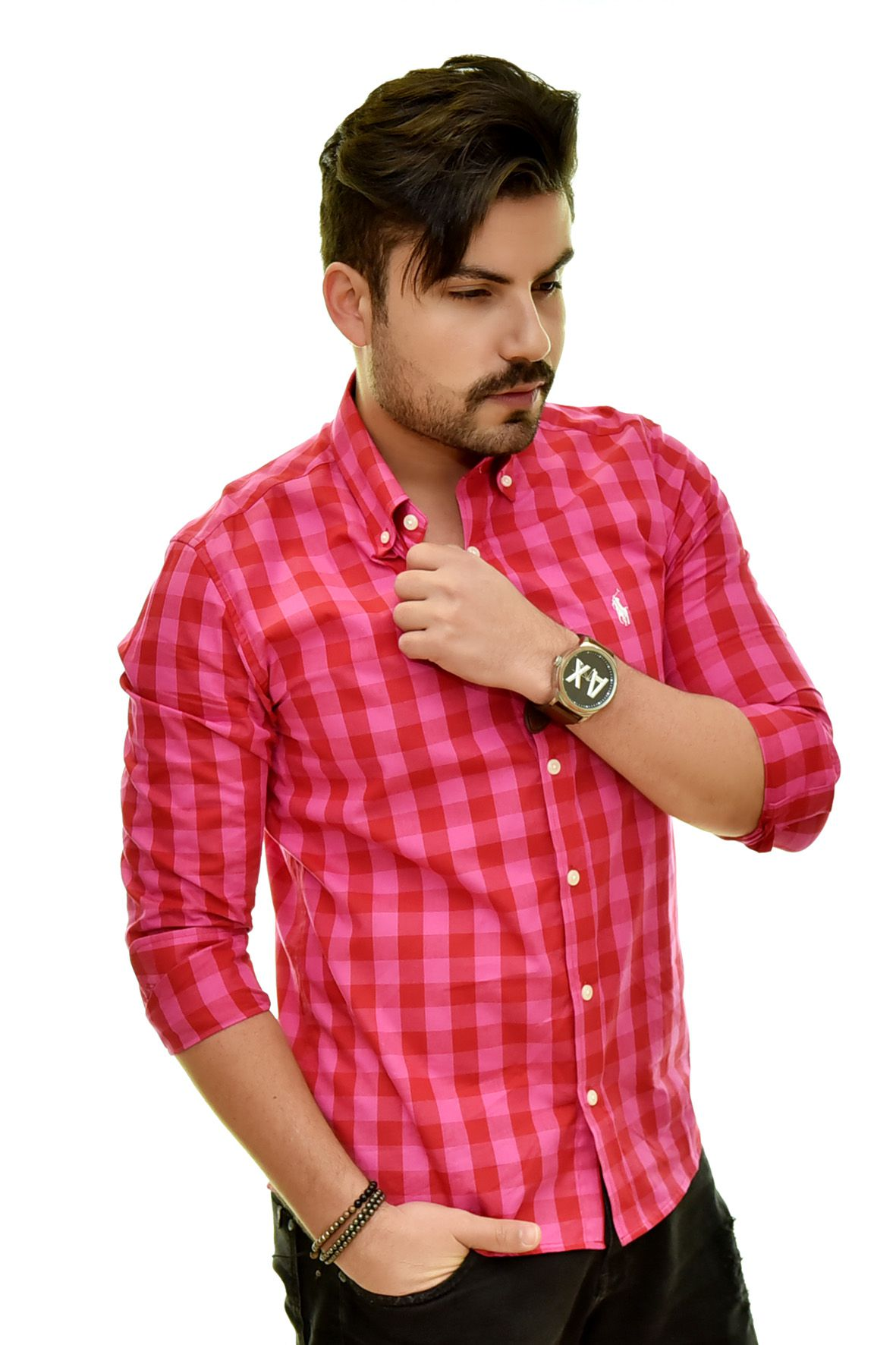 Camisa Social RL Xadrez Pink - Custom Fit  - Ca Brasileira