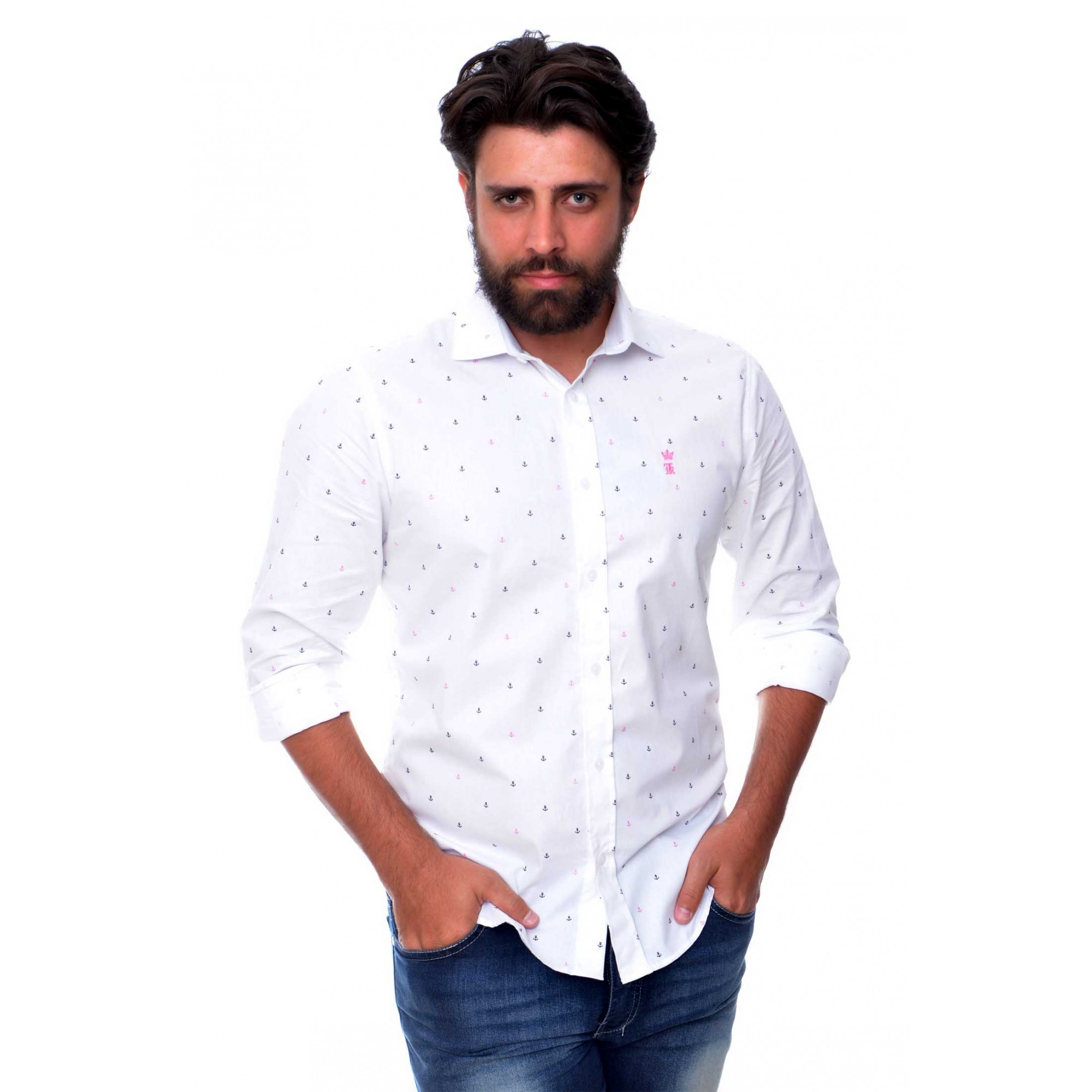 Camisa Social Sergio K Anchors  - Ca Brasileira