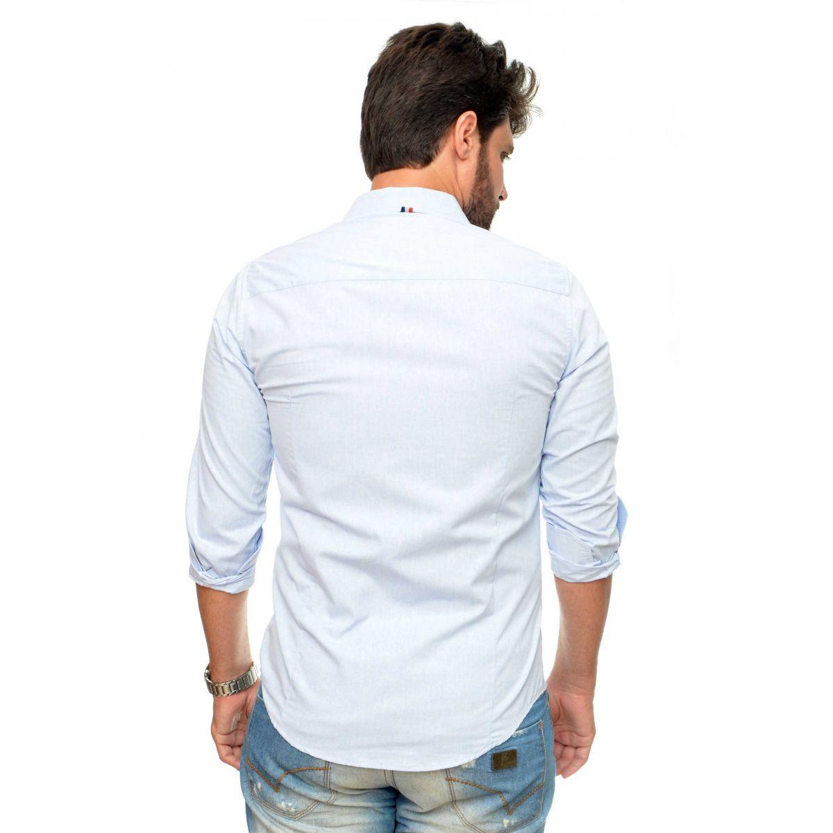 Camisa Social SK Azul Claro  - Ca Brasileira