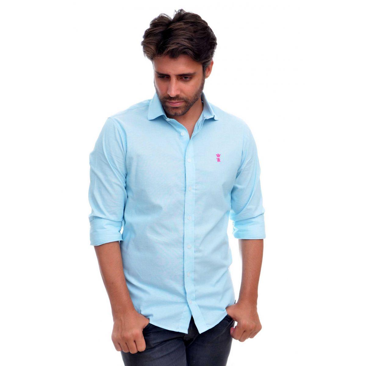 Camisa Social SK Basic Verde Agua  - Ca Brasileira