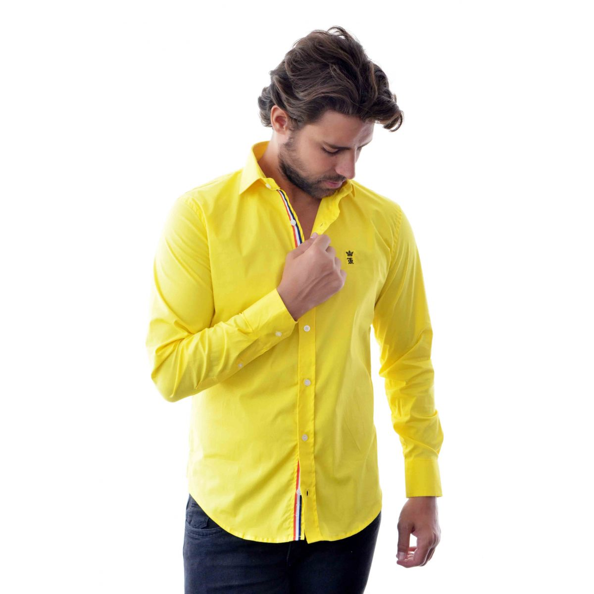 Camisa Social SK Style Amarela  - Ca Brasileira