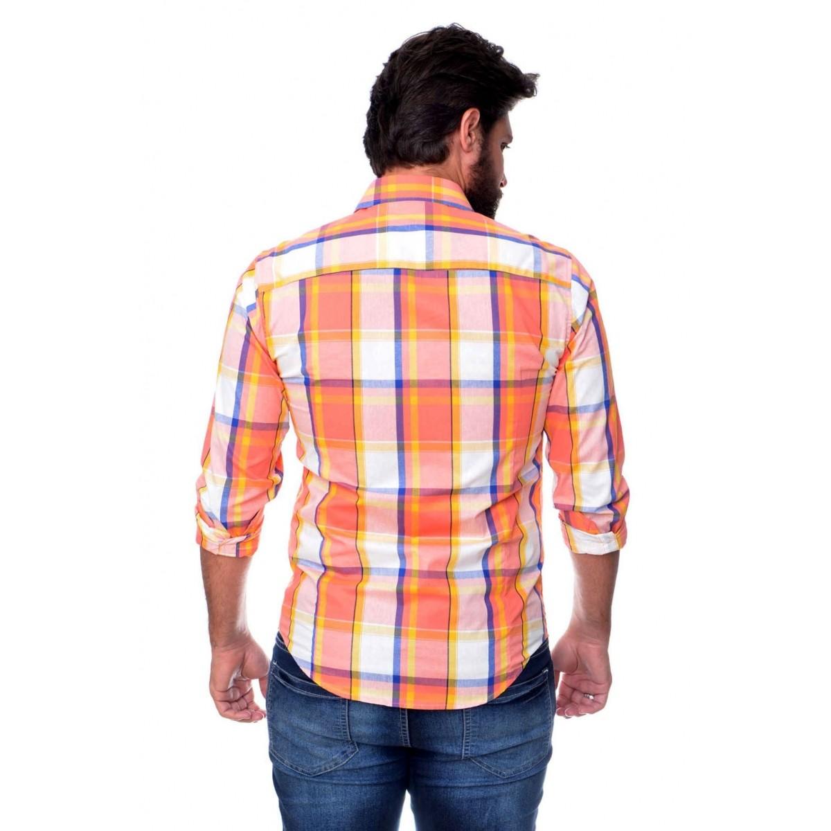 Camisa Social SK Xadrez Button  - Ca Brasileira