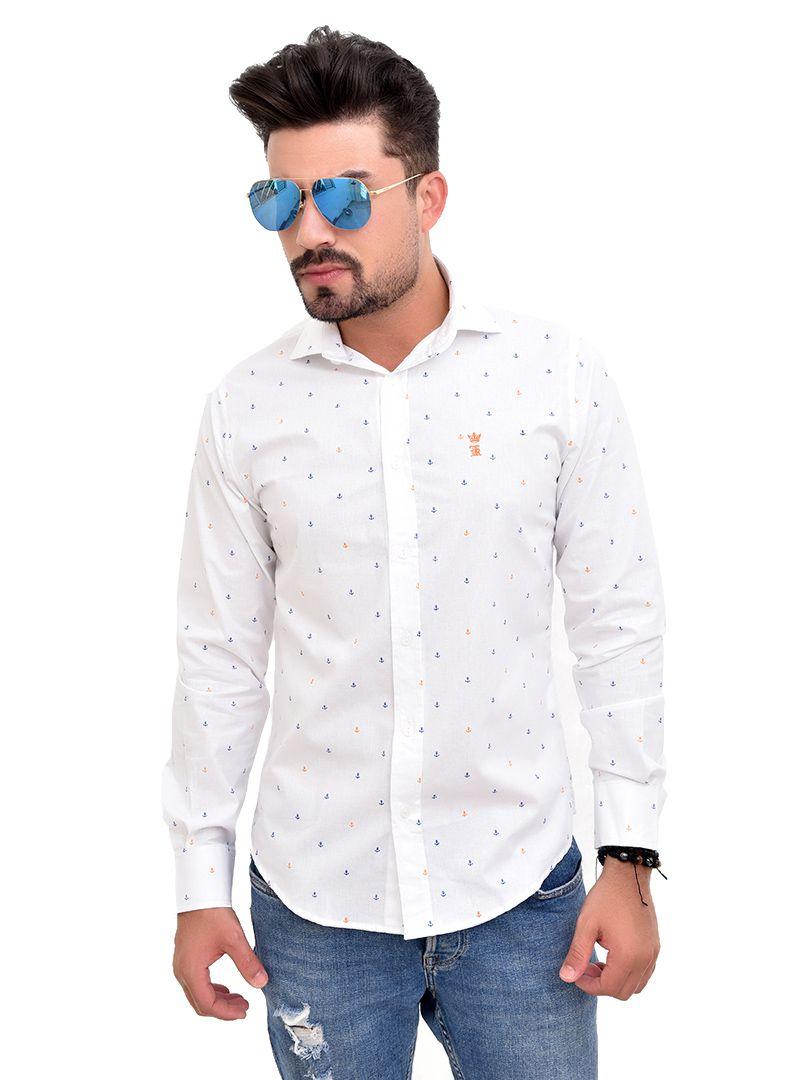 Camisa Social SK Anchors branca  - Ca Brasileira