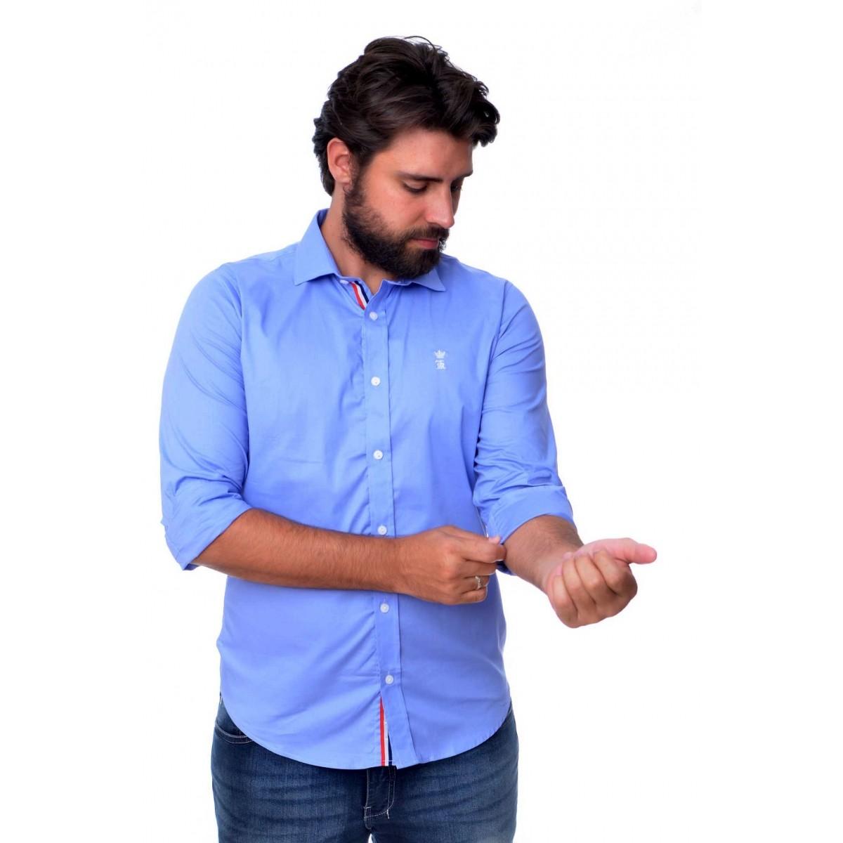 Camisa Social Style Azul
