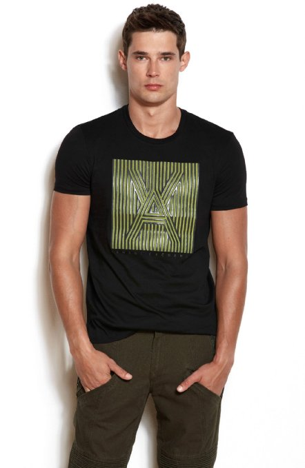 1e8b973d751 Camiseta Armani Exchange Box Logo Preta Armani Exchange Camiseta ...