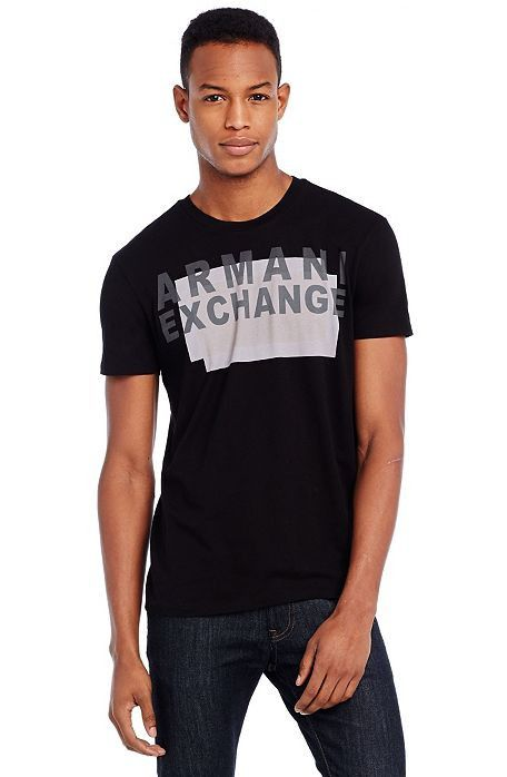 Camiseta Armani Exchange Box Preta